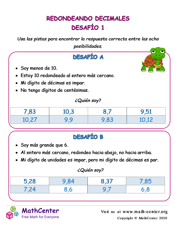 Desafío de redondeo de decimales 1