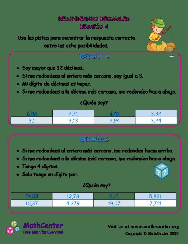 Desafío de redondeo de decimales 4