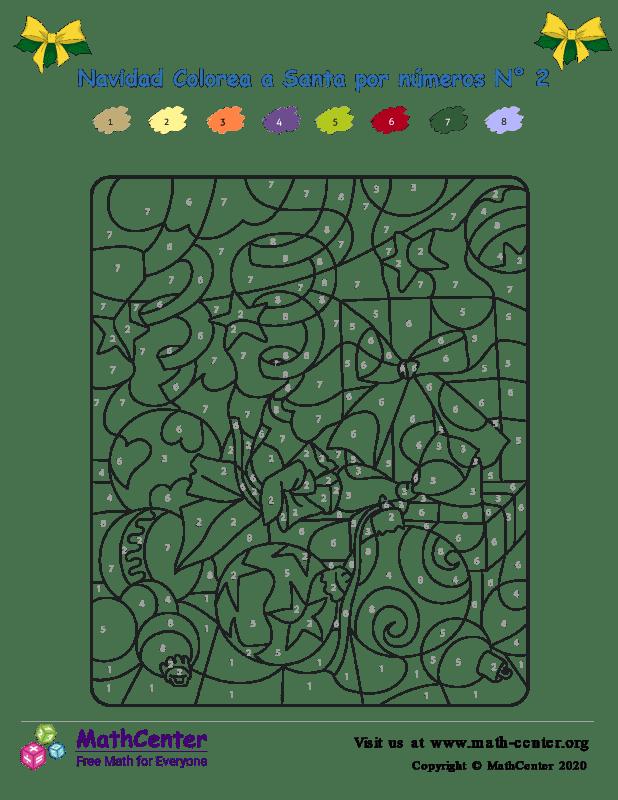 Colorear por números - Navidad