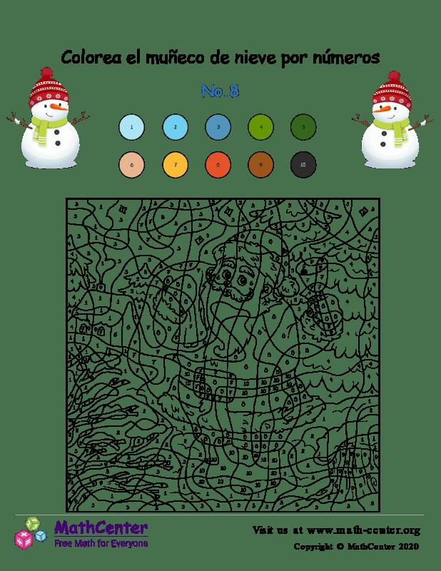 Colorear por números: Santa N° 8