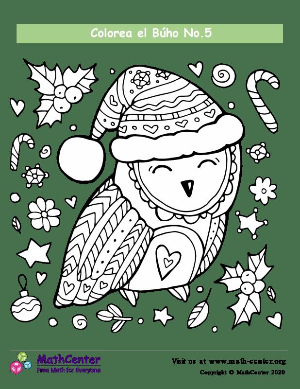 Colorear el Búho de invierno N°5