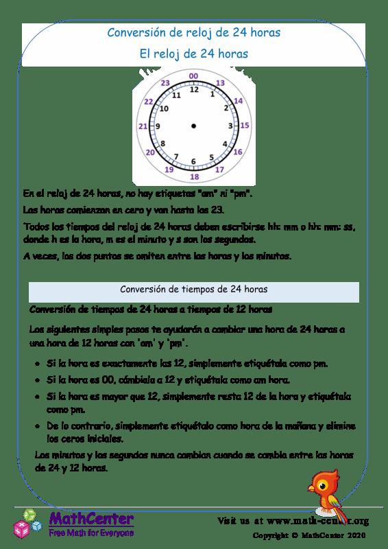 Conversión de tiempo