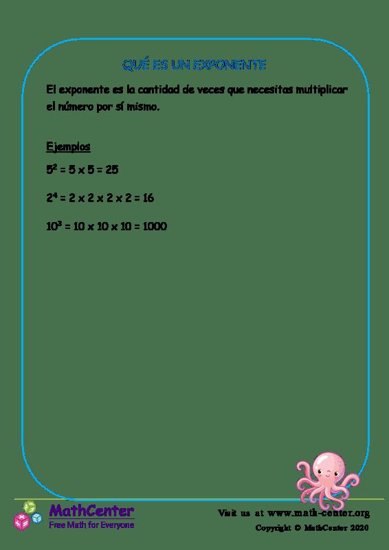 ¿Qué es un exponente?