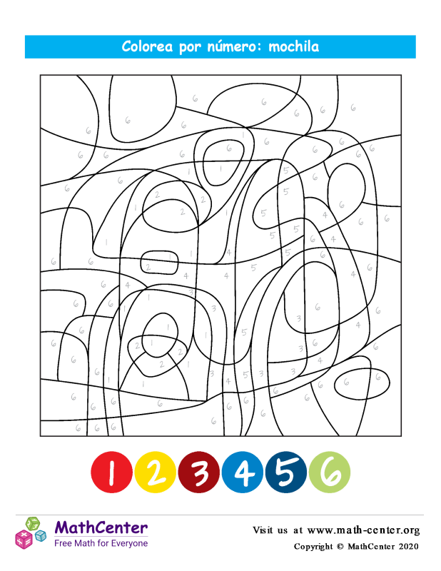 Colorear por números - Bolsa