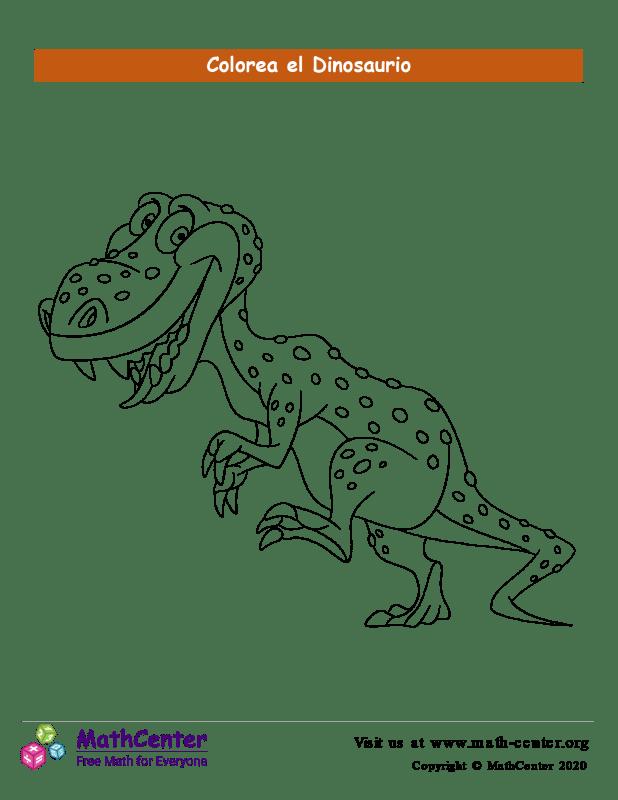 Colorear el dinosaurio N°3