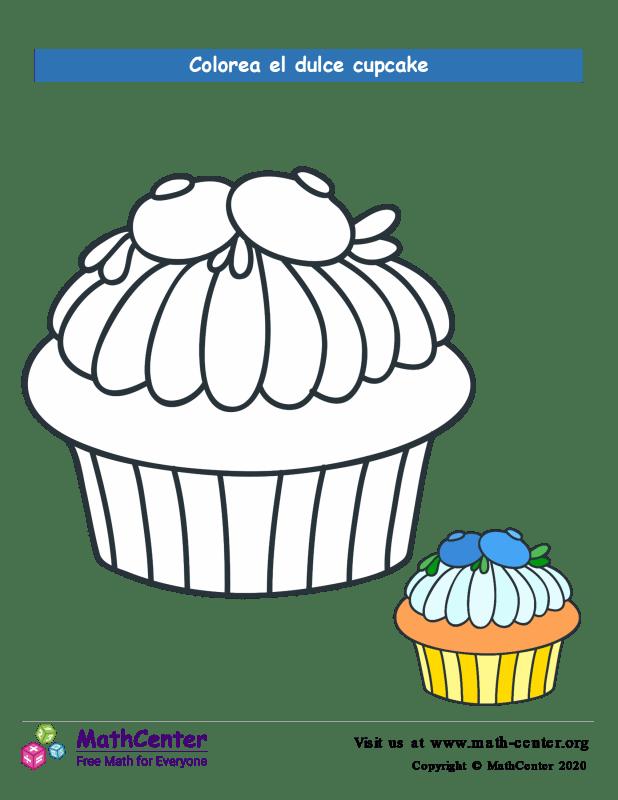 Colorear el cupcake N° 11
