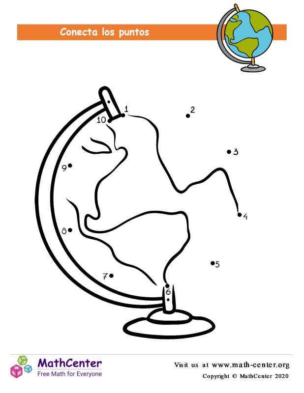 Conecta los puntos Hasta 10 - Globo