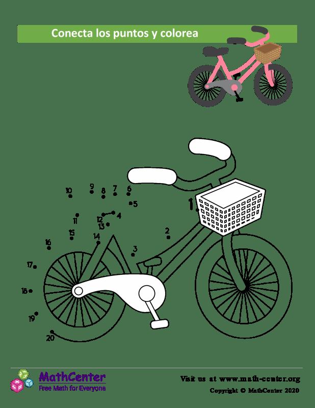 Conecta los puntos Hasta 20 - Bicicleta