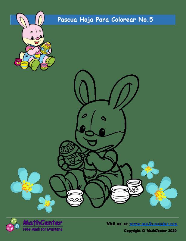 Hoja para colorear - Pascua N°5