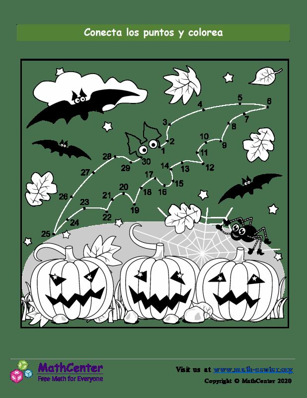 Conecta los puntos Hasta 30 - Halloween