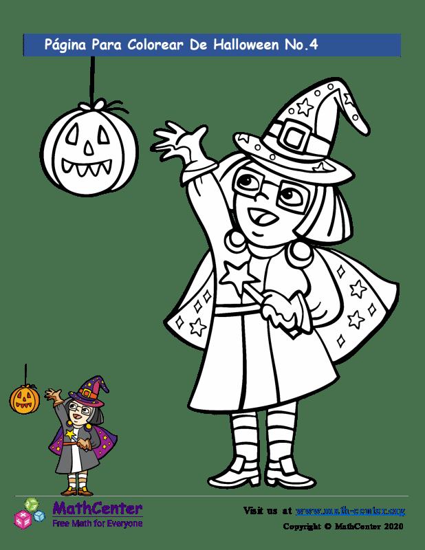 Hoja para colorear - Halloween N°4