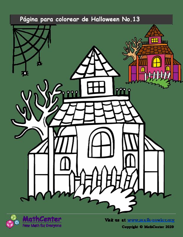 Hoja para colorear - Halloween N°13