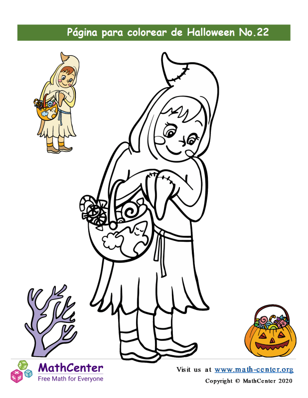 Hoja para colorear - Halloween N°22