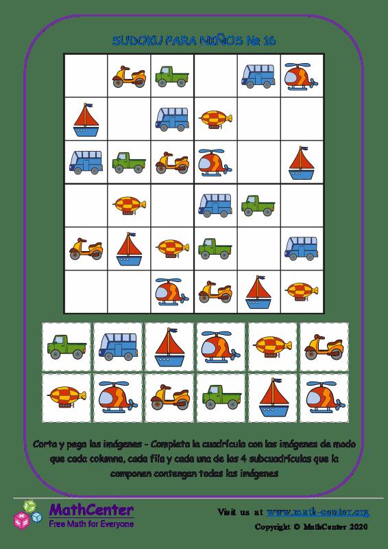 Sudoku Para Niños N°16