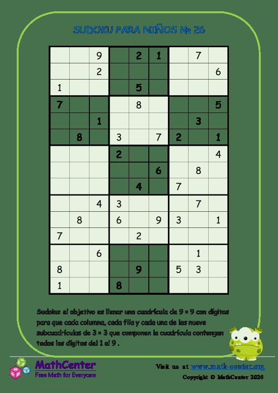 Sudoku N°26