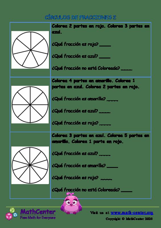 Círculos De Fracciones 2