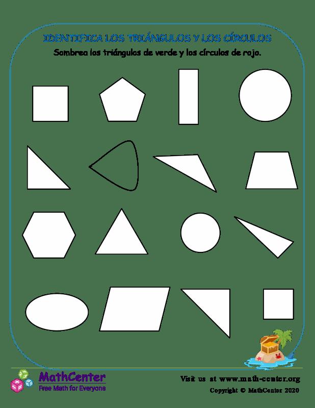 Identifica Los Triángulos Y Los Círculos