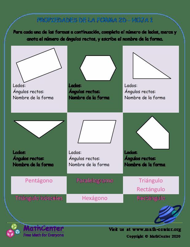 Propiedades De La Forma 2D Hoja 1