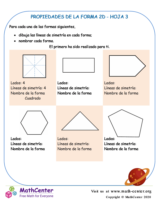 Propiedades De La Forma 2D Hoja 3