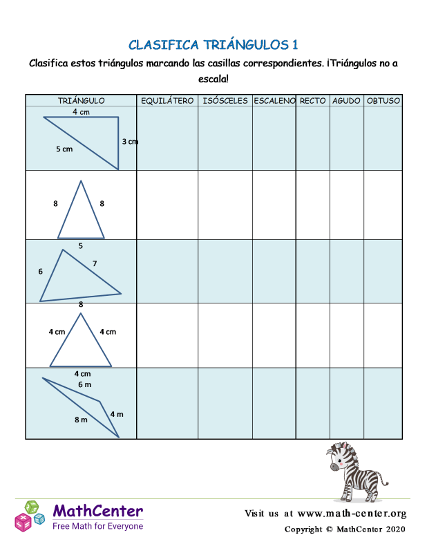 Clasifica Triángulos 1