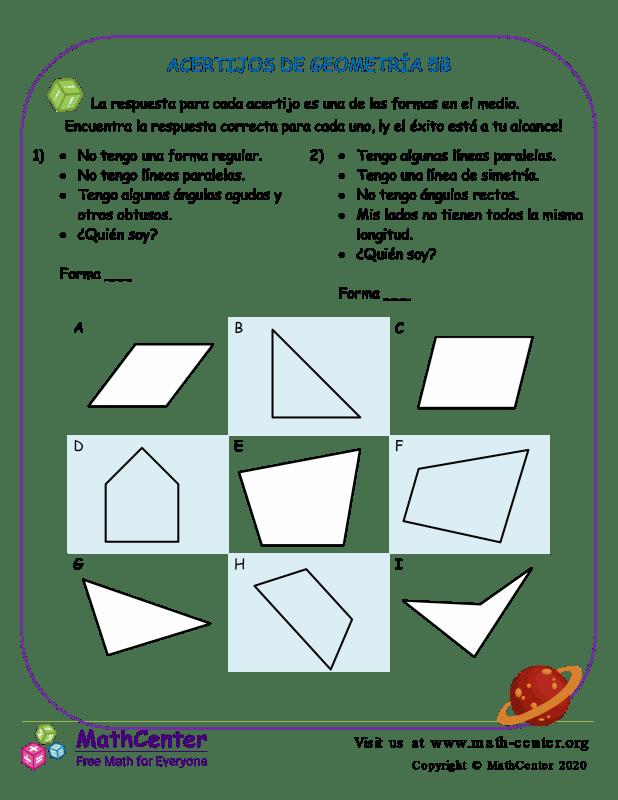 Acertijos De Geometría 5B