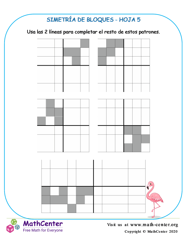 Simetría De Bloques Hoja 5