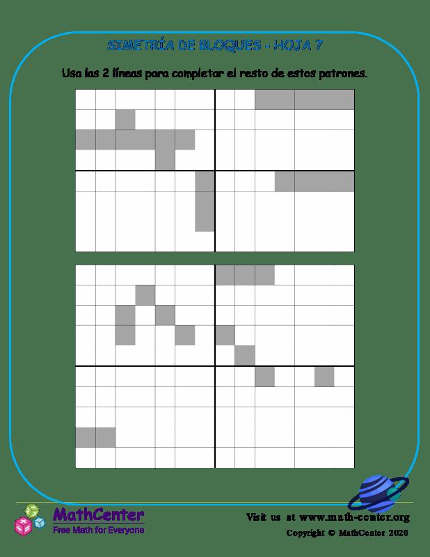 Simetría De Bloques Hoja 7