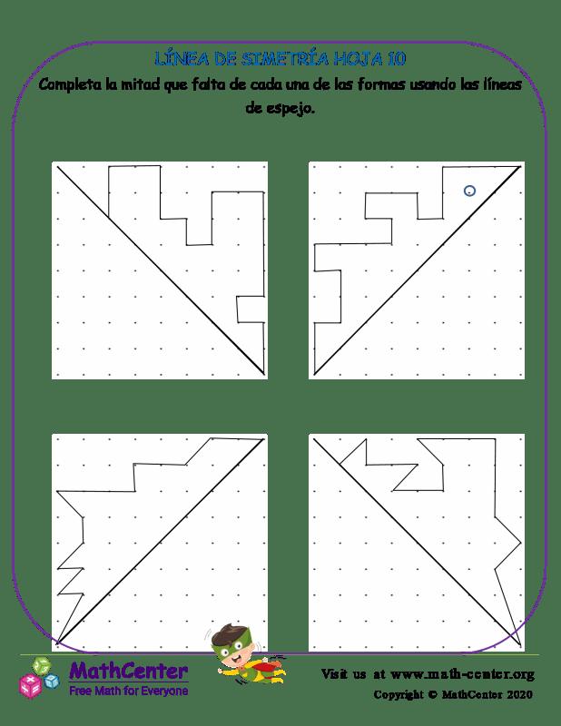 Línea De Simetría Hoja 10