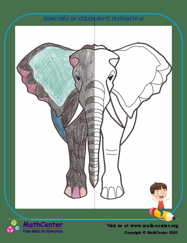 Simetría De Color En El Elefante V1