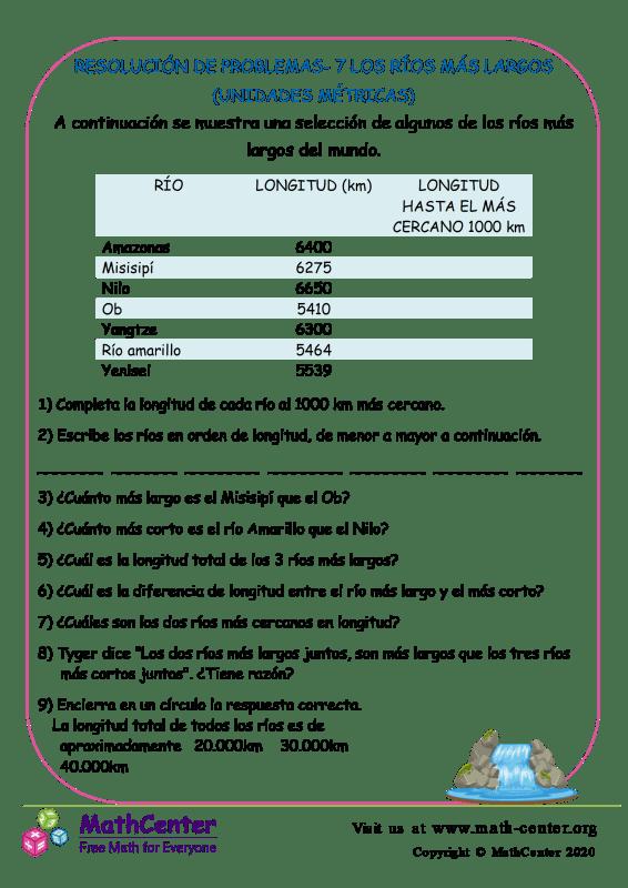 Resolución De Problemas- 7 Los Ríos Más Largos
