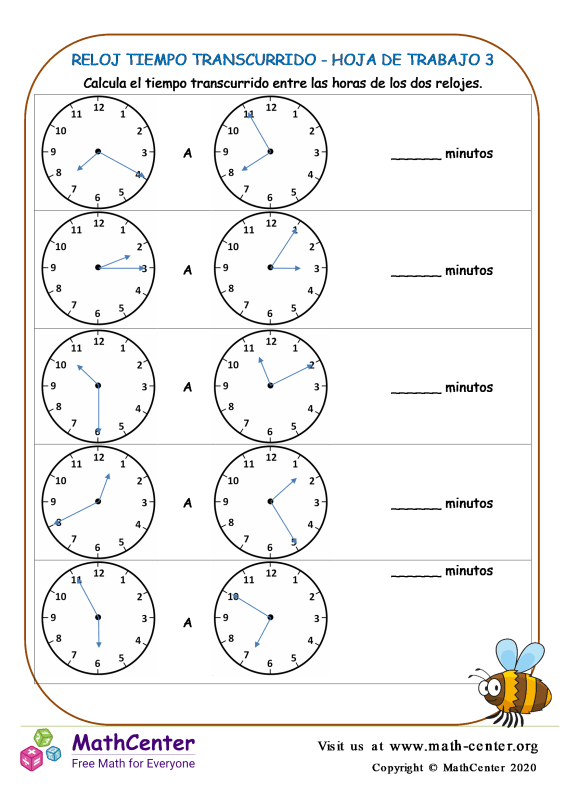 Reloj Tiempo Transcurrido - Hoja De Trabajo 3