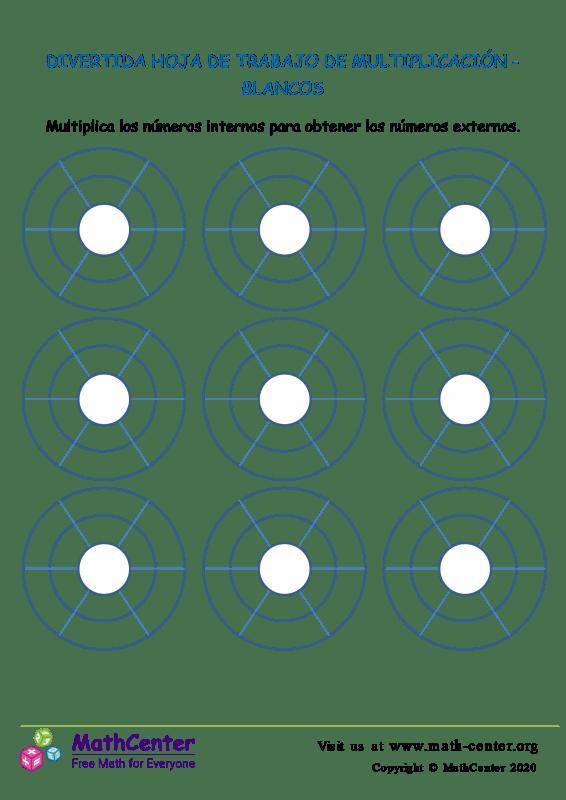 Hoja De Trabajo De Multiplicación -Blancos Divertidos
