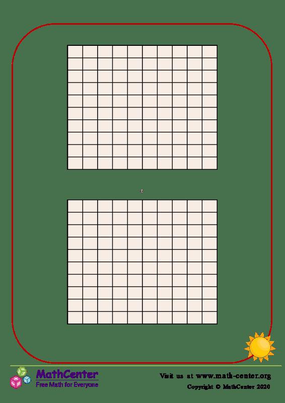 1 al 100 mini tabla - Plantilla