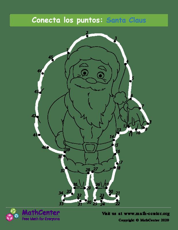 Conecta los puntos Hasta 45 - Santa Claus