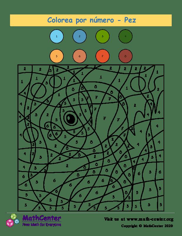 Colorear por números - Pez