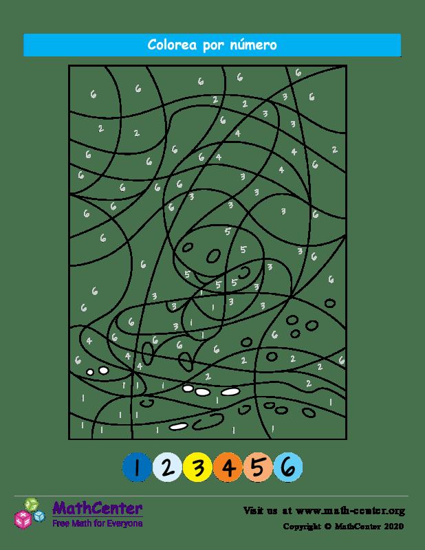 Colorear por números - Mar
