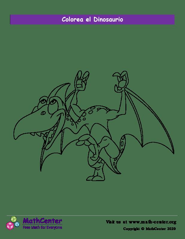 Colorear el dinosaurio N°2