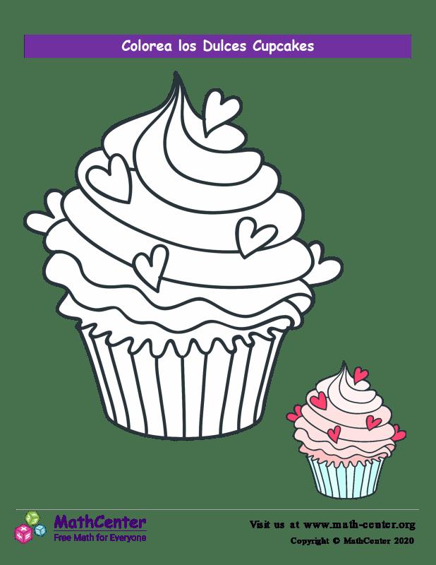 Colorear el cupcake N° 6