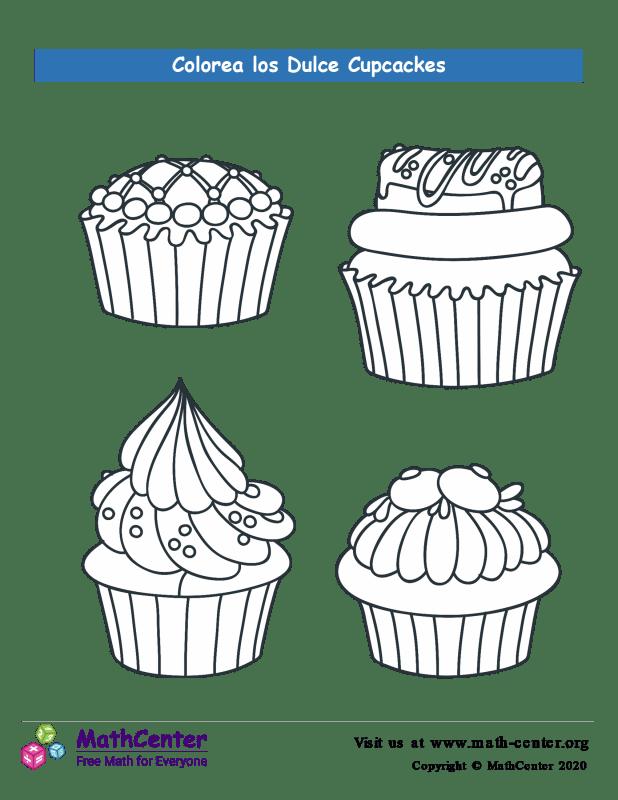 Colorear los cupcakes N° 1