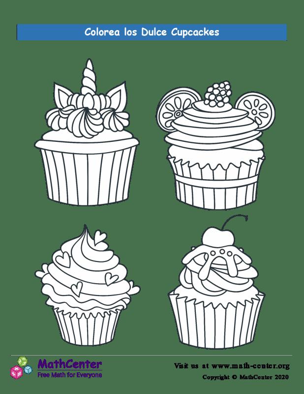 Colorear los cupcakes