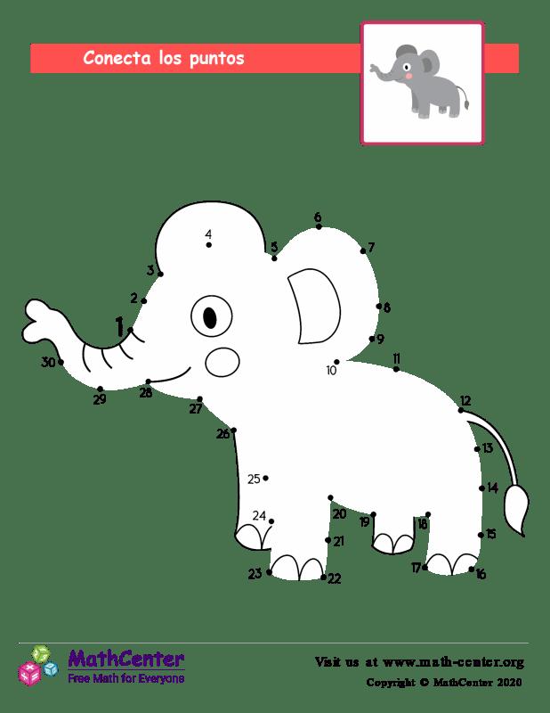 Conecta los puntos Hasta 30 - Elefante