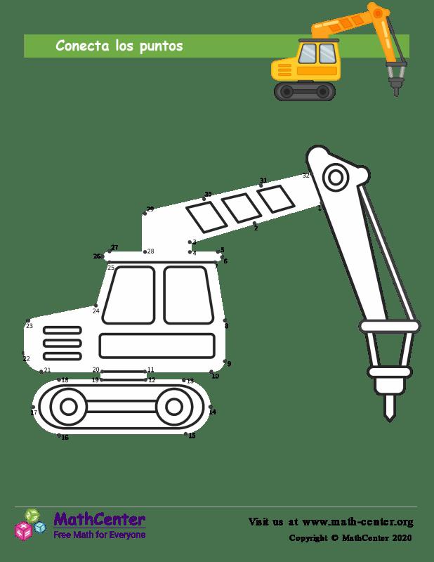 Conecta los puntos Hasta 32 - Excavadora