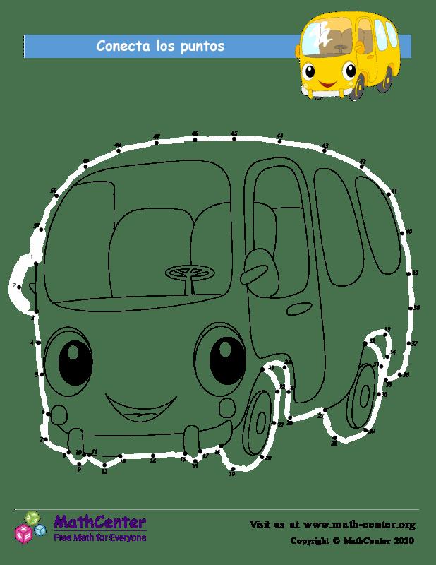 Conecta los puntos Hasta 51 - Autobús