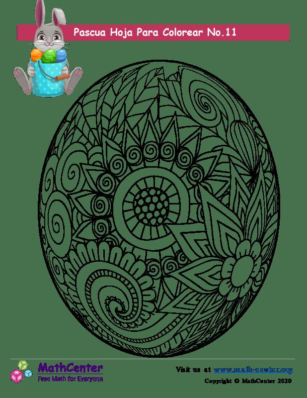 Hoja para colorear - Pascua N°11