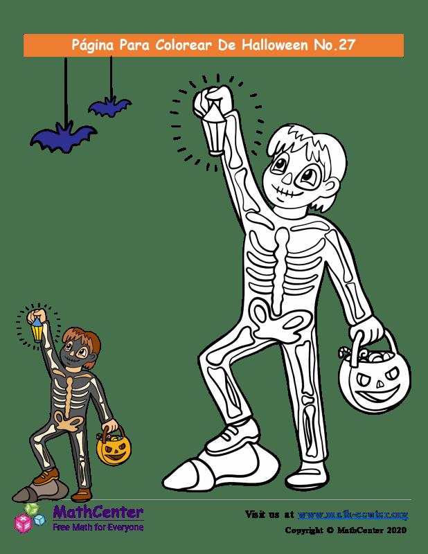Hoja para colorear - Halloween N°27
