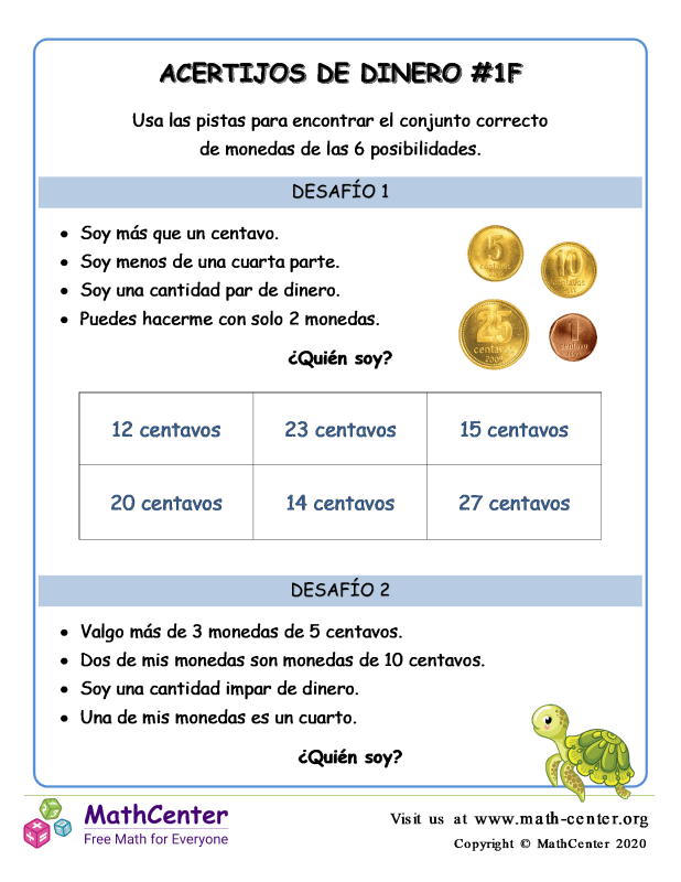 Acertijos de dinero (1F) (Argentina)