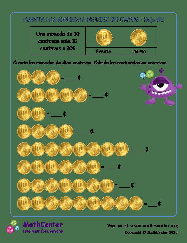 Contando monedas de 10 centavos (2) (Argentina)