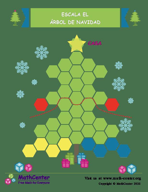 Sube al árbol de navidad