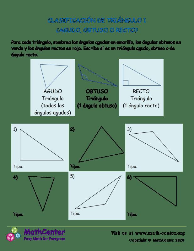 Clasificación De Triángulo 1