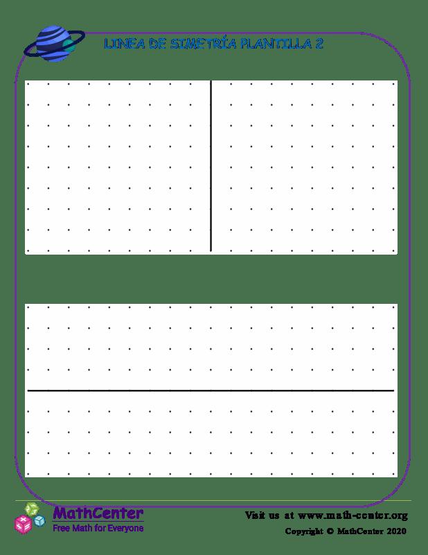 Linea De Simetría Plantilla 2